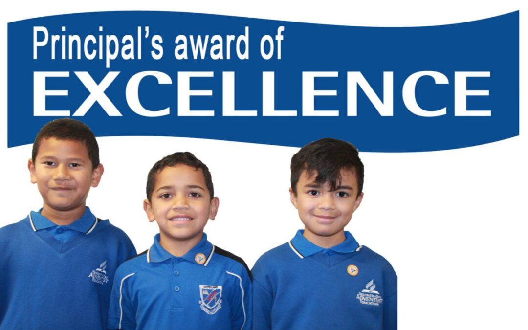 Principal's Award of Excellence