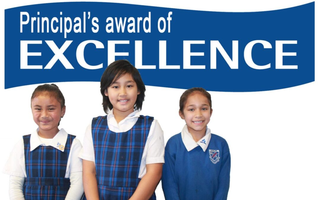 Principal's Award of Excellence, August 20